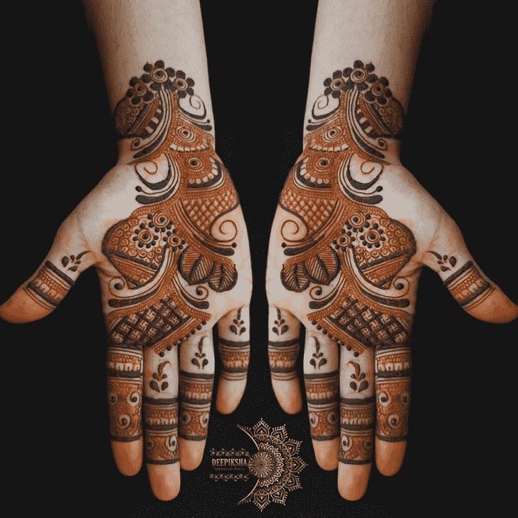Appealing Mughlai Henna Design