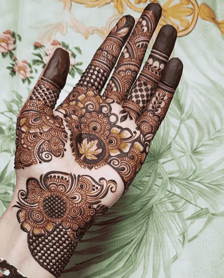 Bewitching Mughlai Henna Design