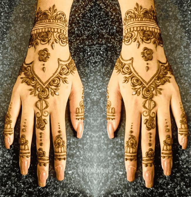 Admirable Muktagacha Mehndi Design