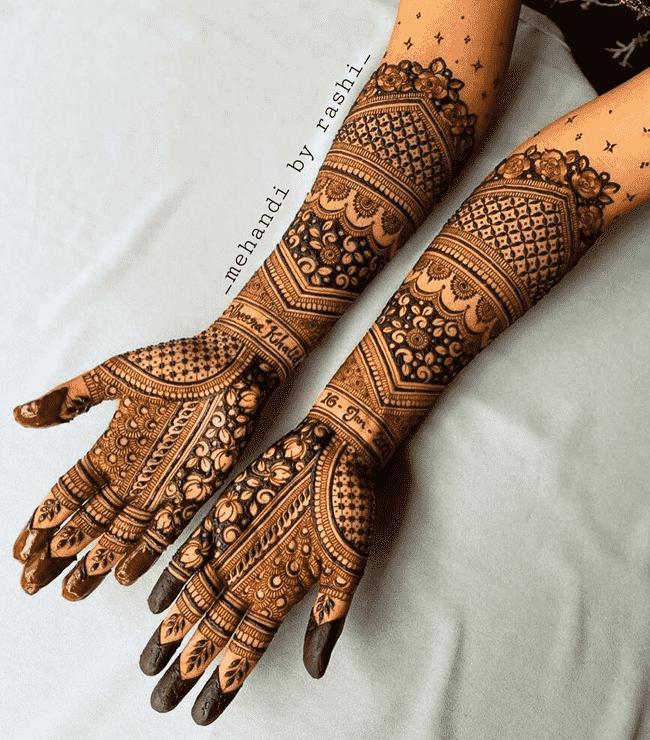 Charming Muktagacha Henna Design