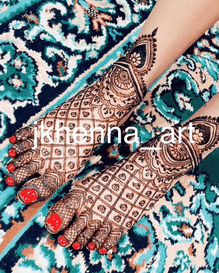 Beauteous Mysore Henna Design