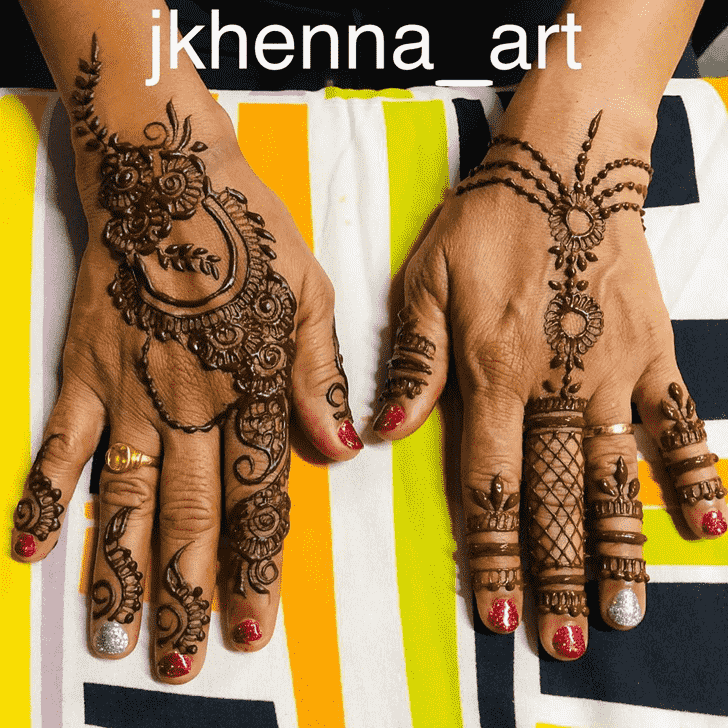 Captivating Mysore Henna Design