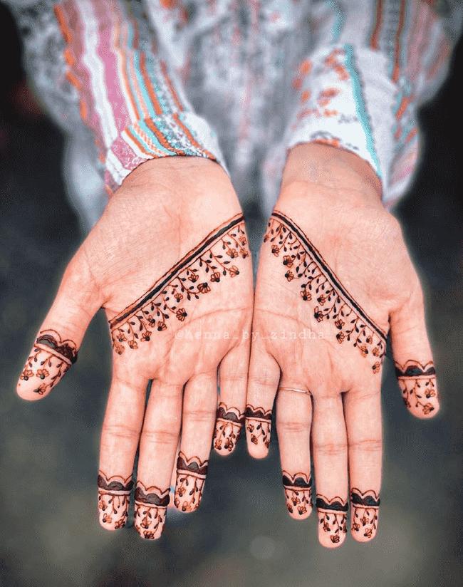 Delicate Nainital Henna Design