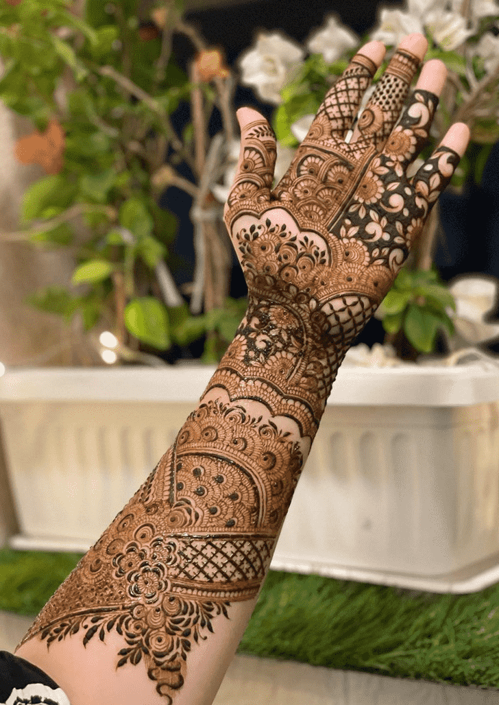 Arm Nasik Henna Design