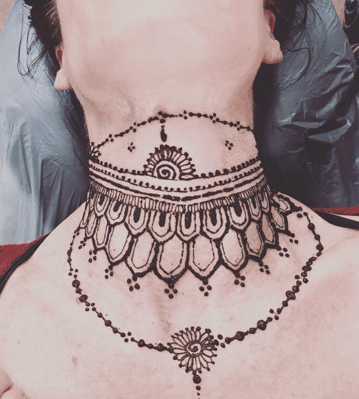 Alluring Neck Henna Design