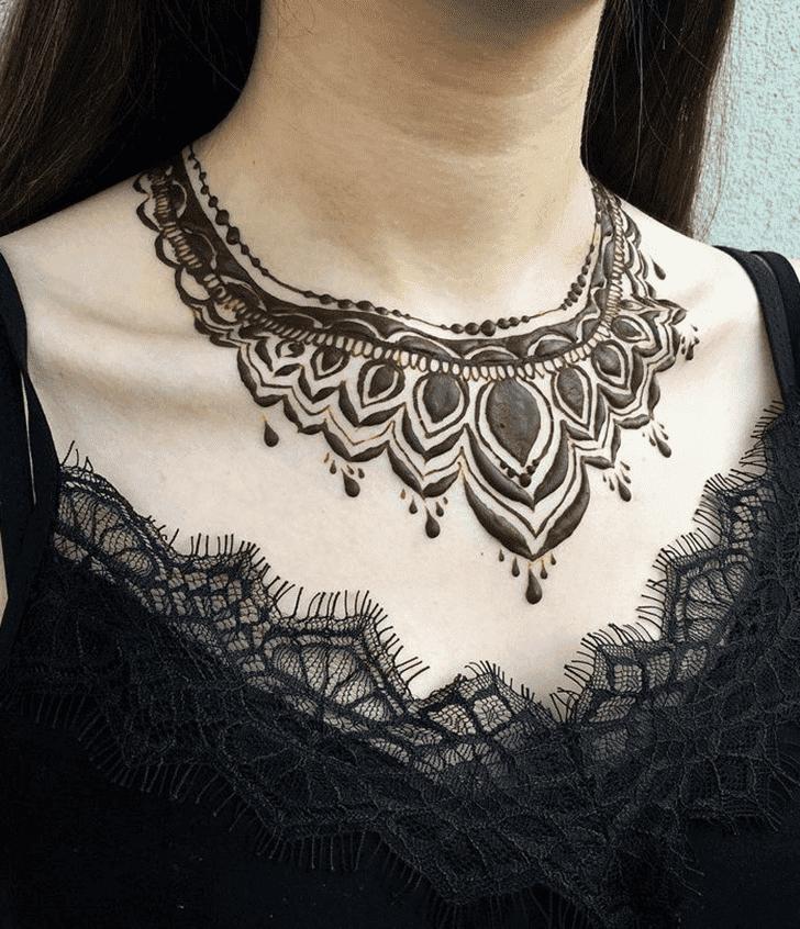 Appealing Neck Henna Design