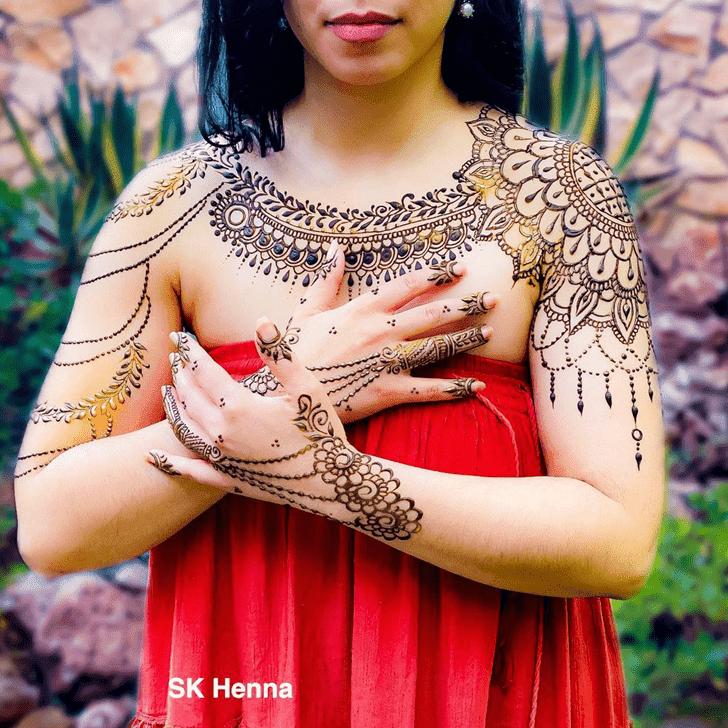 Beauteous Neck Henna Design