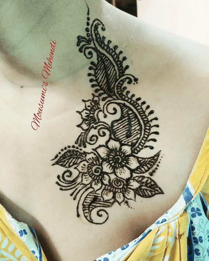 Bewitching Neck Henna Design
