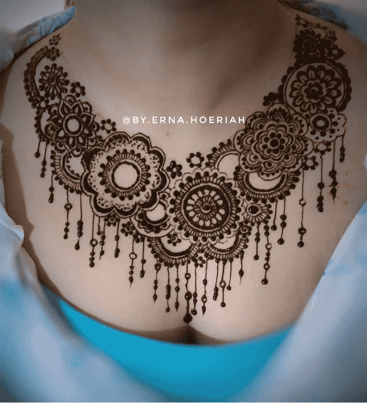 Admirable Necklace Mehndi Design