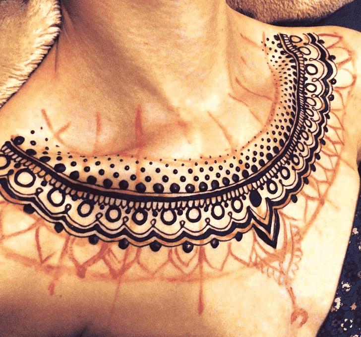 Alluring Necklace Henna Design