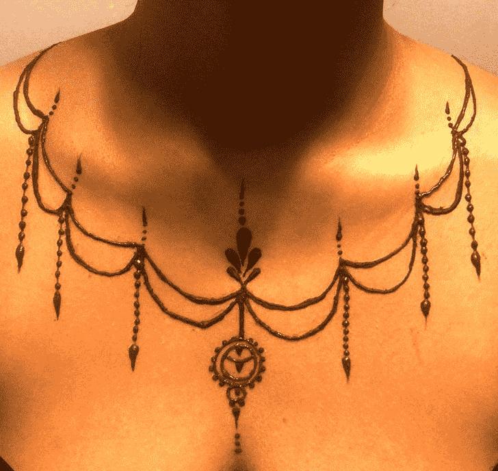 Angelic Necklace Henna Design