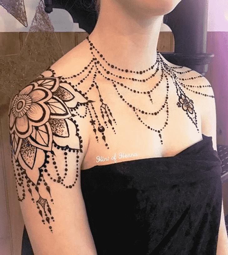 Captivating Necklace Henna Design
