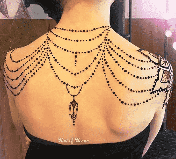 Charming Necklace Henna Design