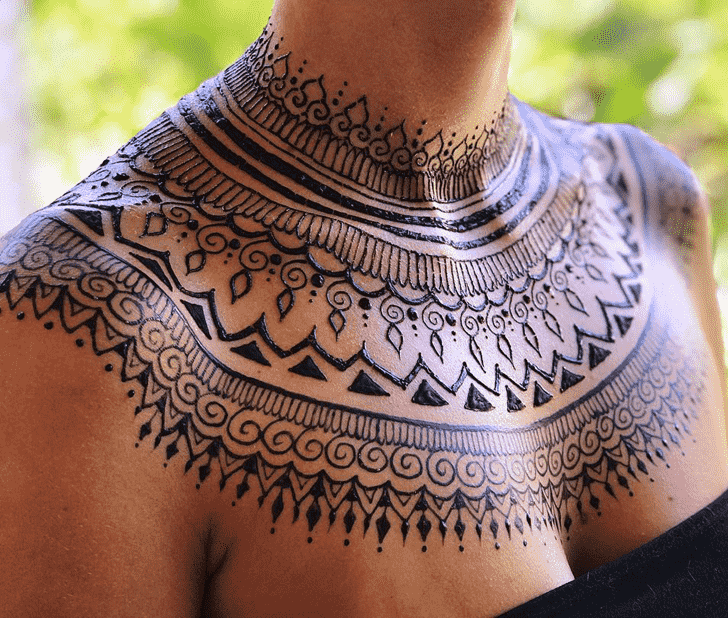 Classy Necklace Henna Design