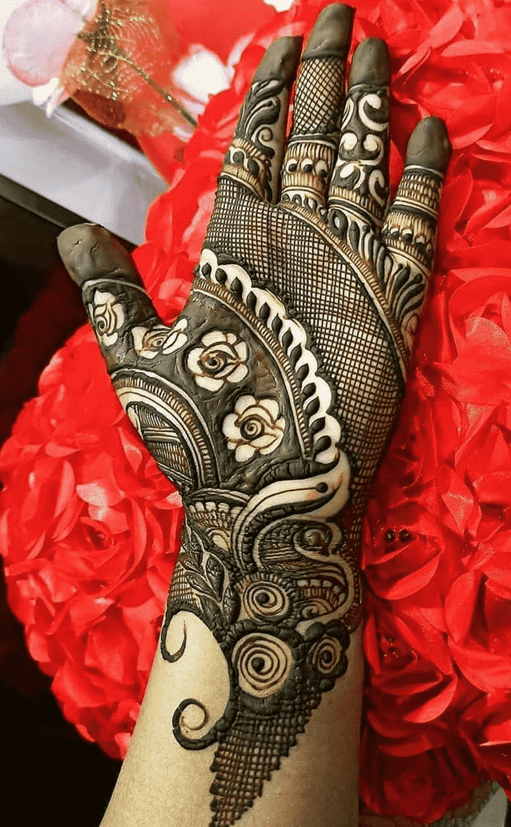 Angelic New Year Henna Design