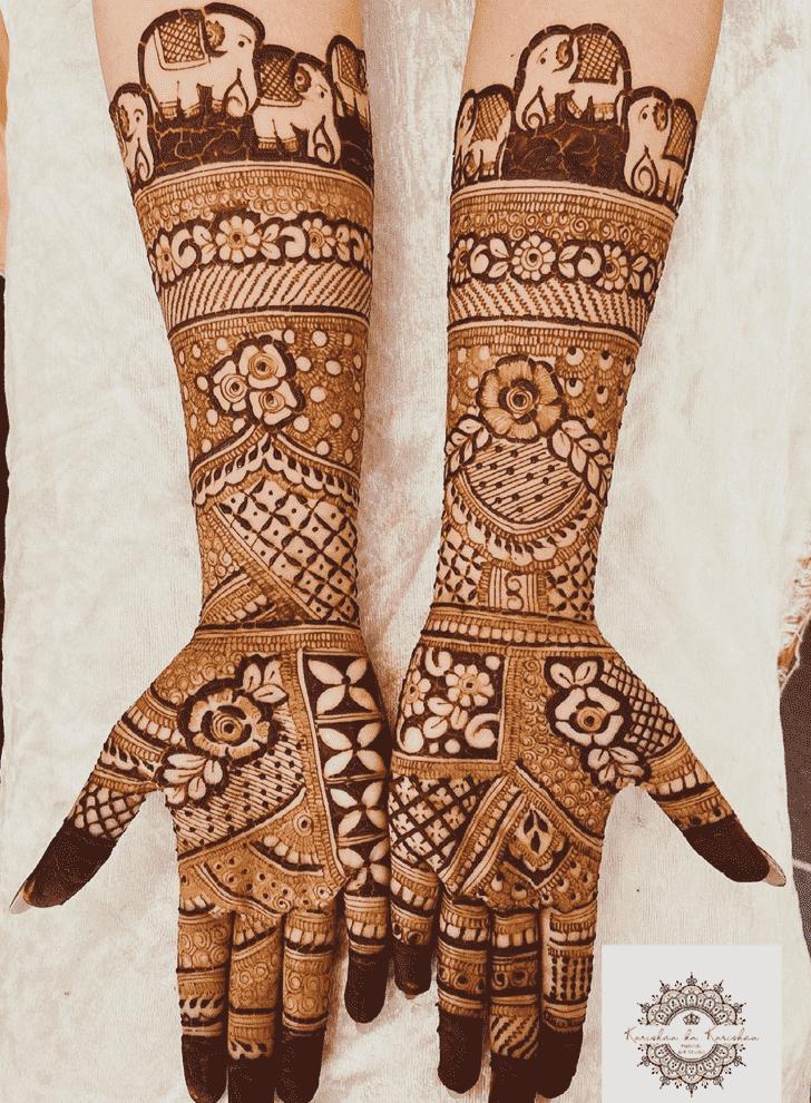 Bewitching New Year Henna Design