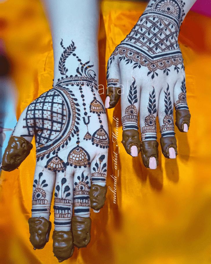 Classy New Year Henna Design