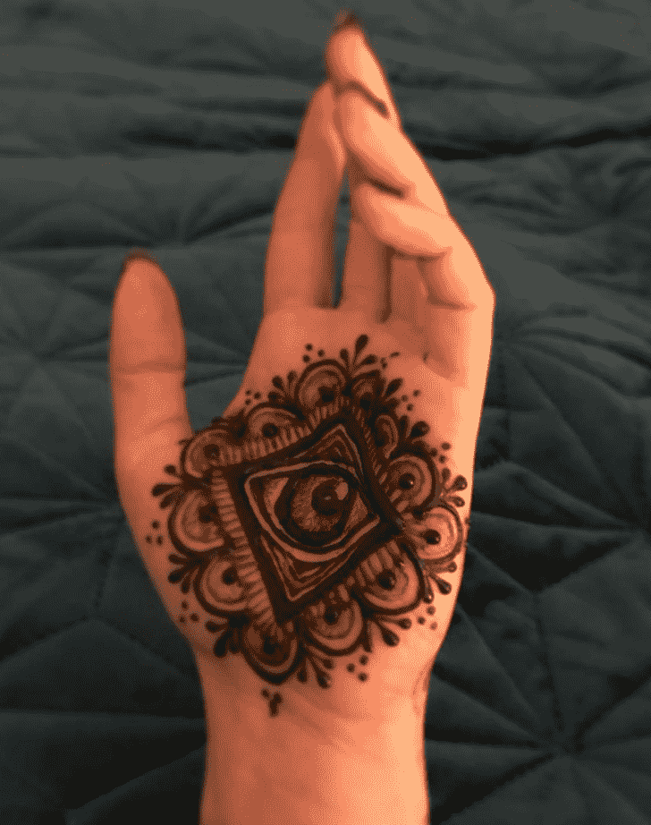 Appealing Palm Henna Design