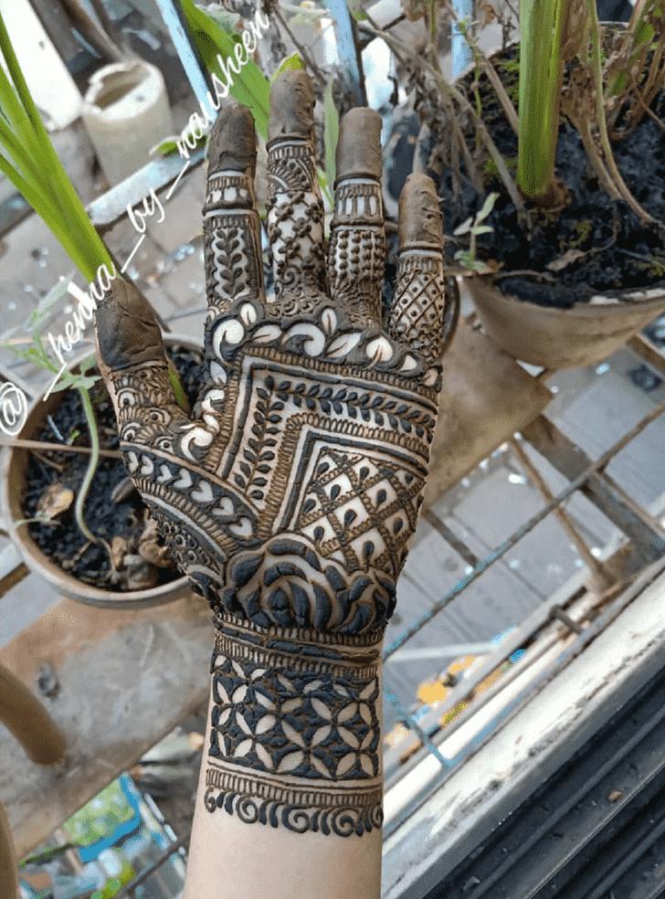 Bewitching Palm Henna Design