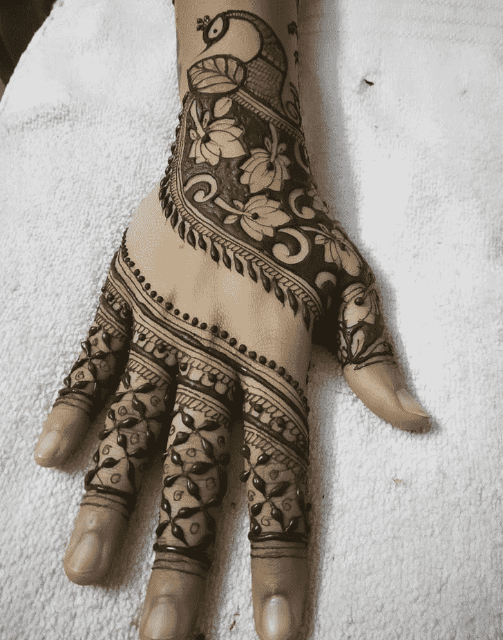 Adorable Peacock Henna design