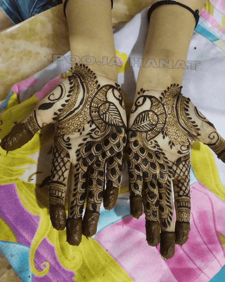 Bewitching Peacock Henna design
