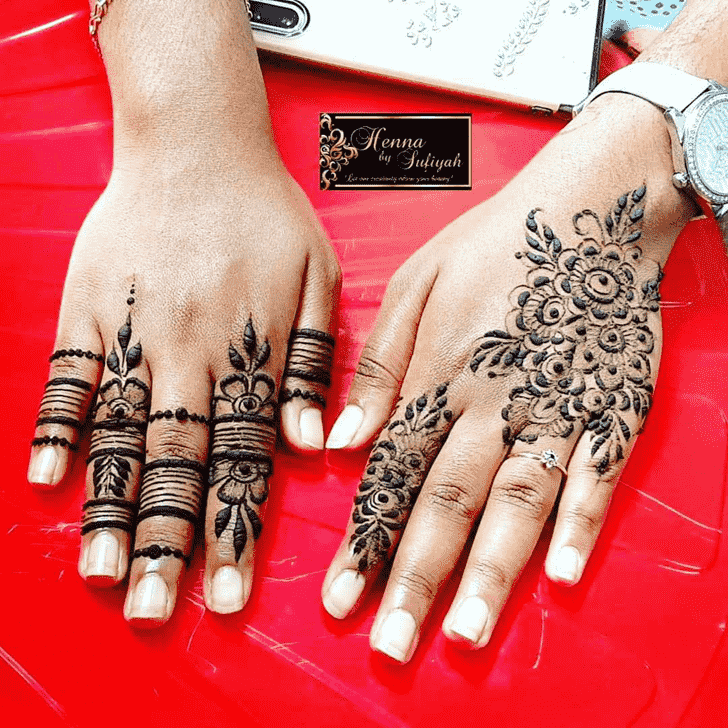 Adorable Phalguna Amavasya Henna Design