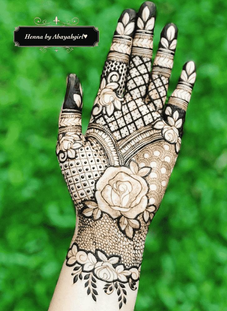 Alluring Phalguna Amavasya Henna Design