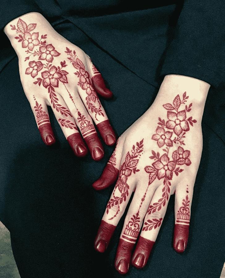 Beauteous Phalguna Amavasya Henna Design