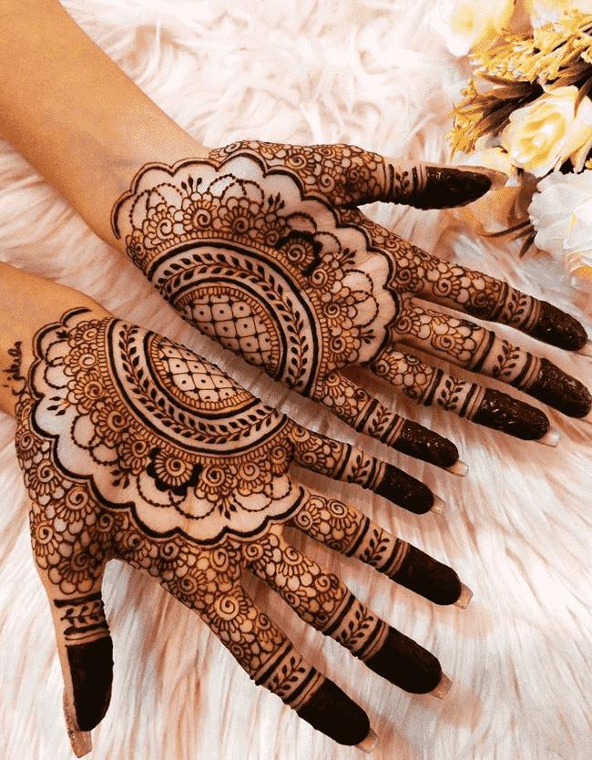 Angelic Pondicherry Henna Design