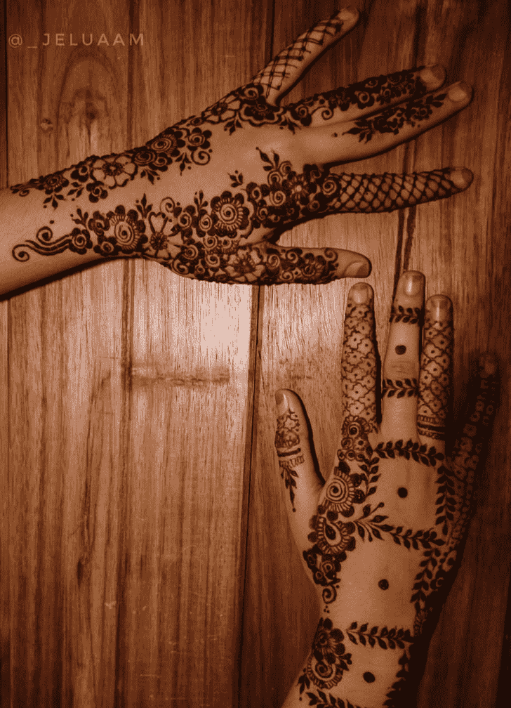 Alluring Pongal Henna Design