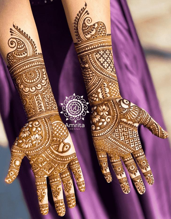 Appealing Pongal Henna Design