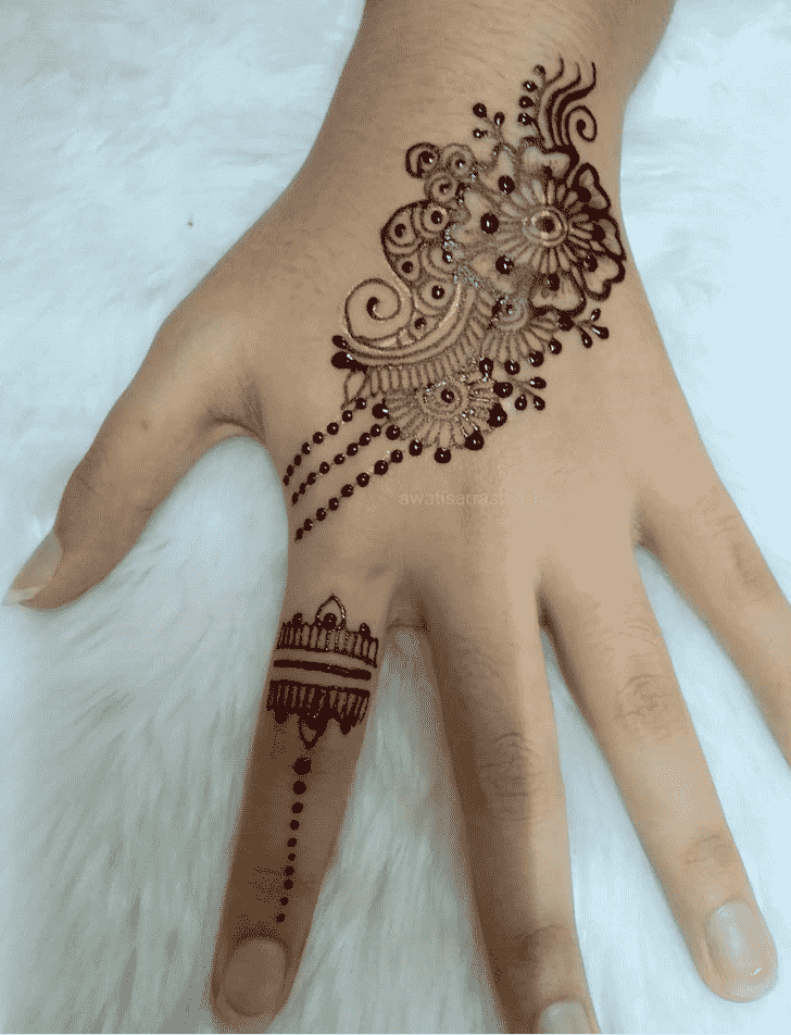 Beauteous Pongal Henna Design