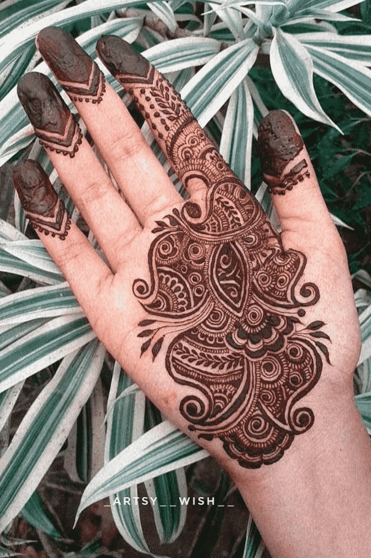 Admirable Pradosh Vrat Mehndi Design
