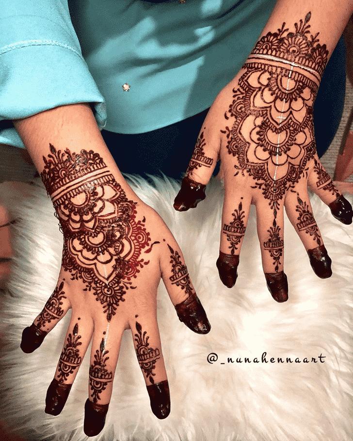 Angelic Pradosh Vrat Henna Design