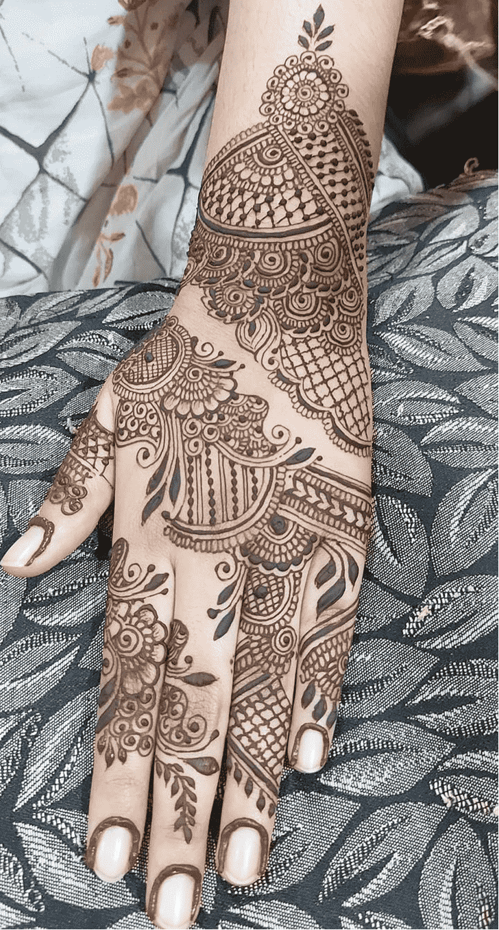 Appealing Prayagraj Henna Design