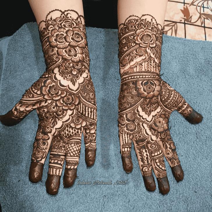 Enthralling Prayagraj Henna Design