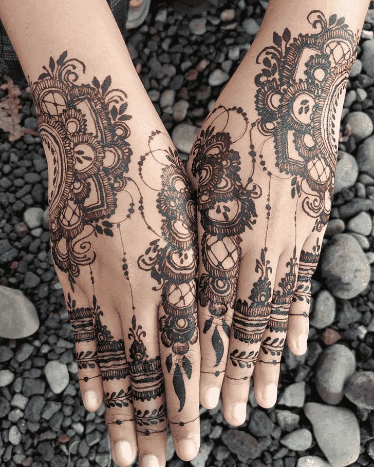 Magnificent Prayagraj Henna Design