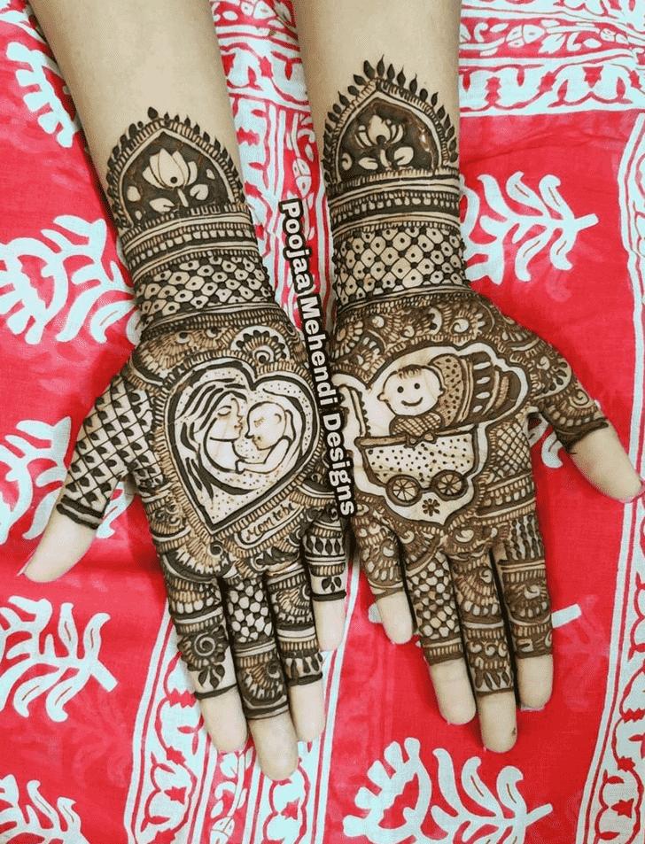 Refined Prayagraj Henna Design