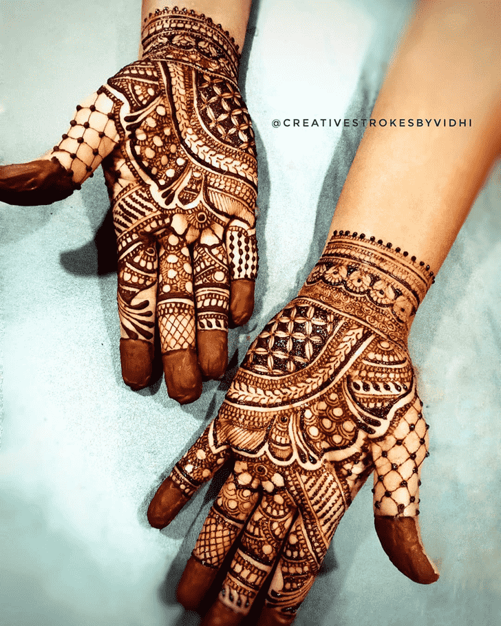 Adorable Punjabi Henna Design