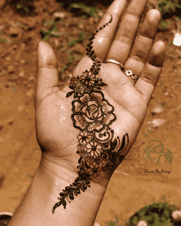 Beauteous Punjabi Henna Design