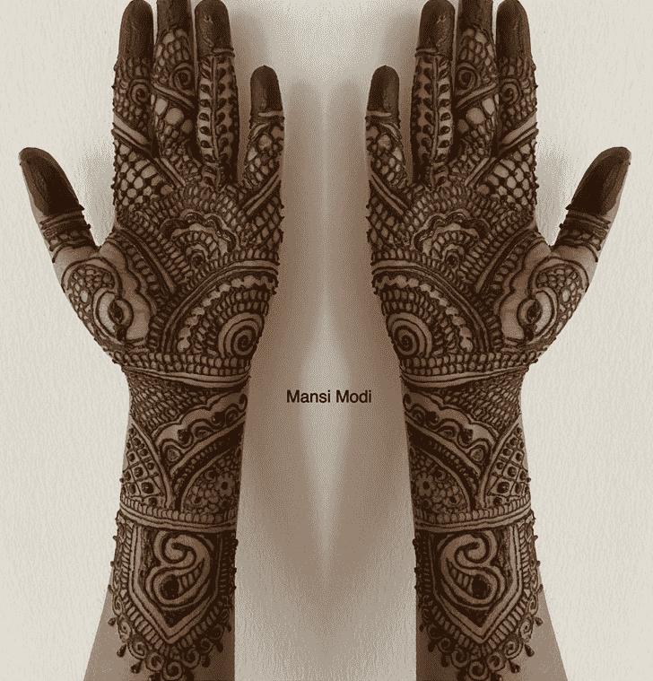 Bewitching Punjabi Henna Design