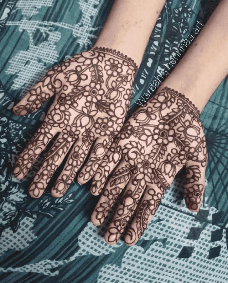 Comely Punjabi Henna Design