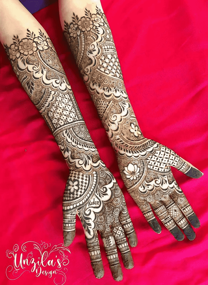 Enthralling Punjabi Henna Design