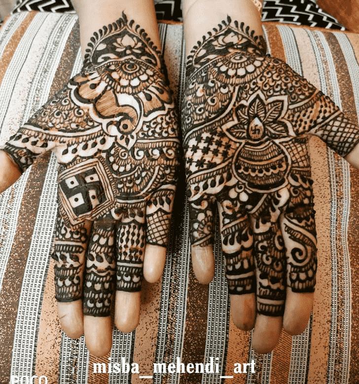 Exquisite Punjabi Henna Design