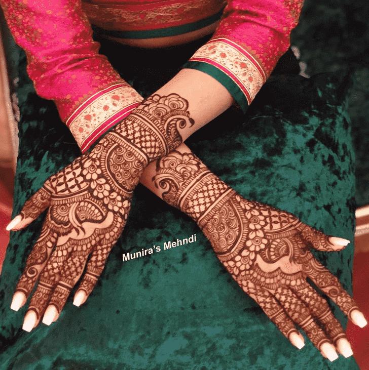 Fair Punjabi Henna Design