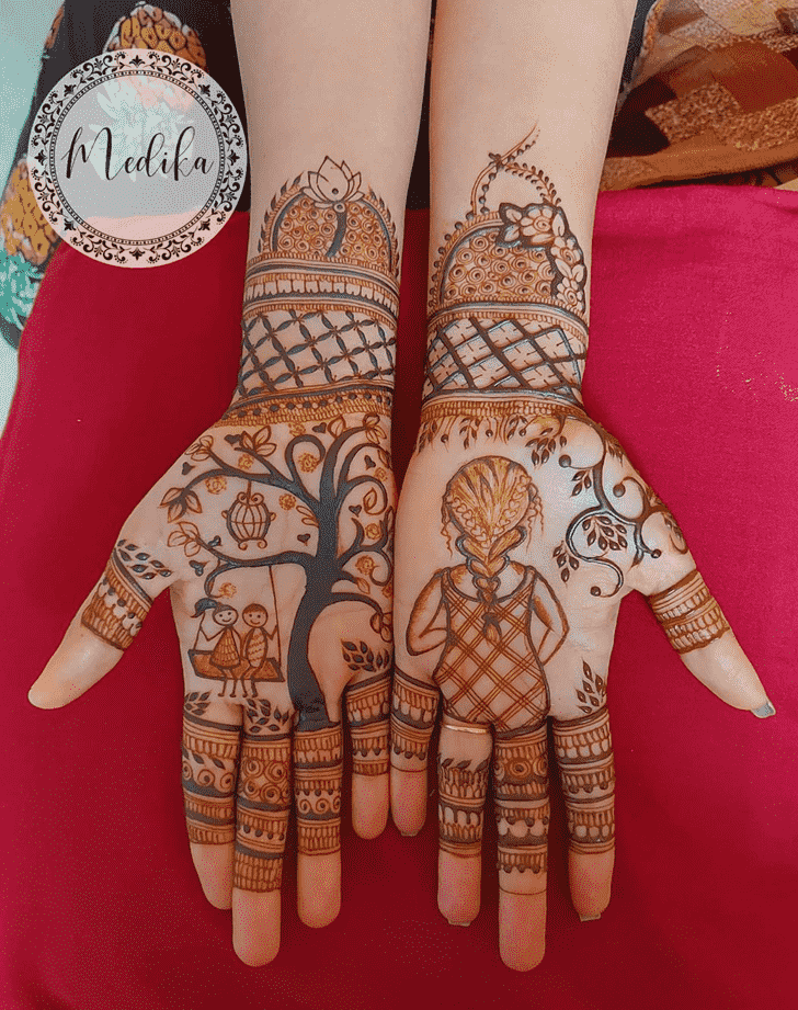 Lovely Punjabi Mehndi Design