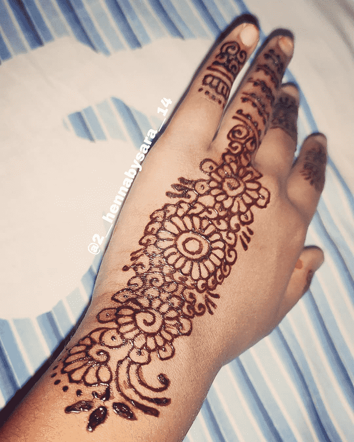 Marvelous Punjabi Henna Design