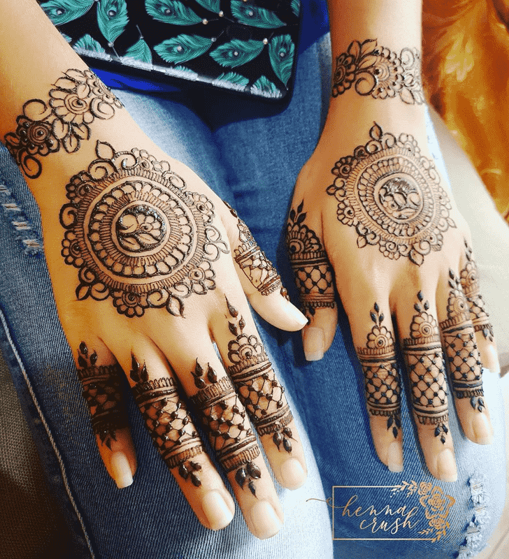 Slightly Punjabi Henna Design