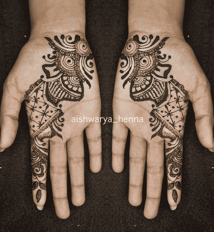 Superb Punjabi Henna Design