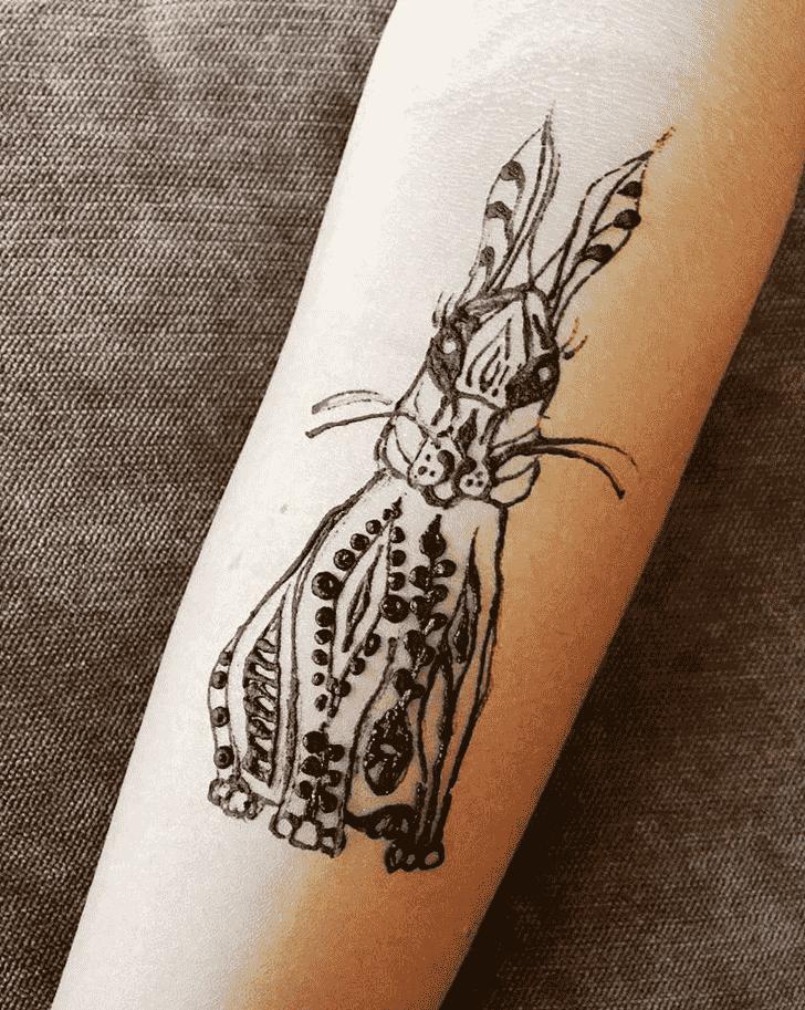 Adorable Rabbit Henna Design